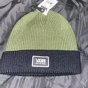 Green/Black Vans Beanie NWT